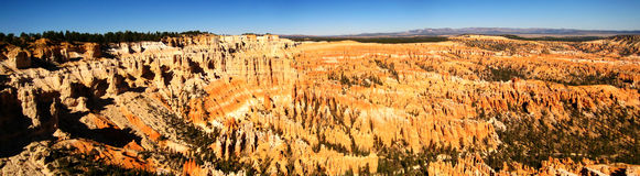 Bryce point panorama. Panorama of Bryce Canyon National Park from Bryce Point (Utah, USA Stock Image
