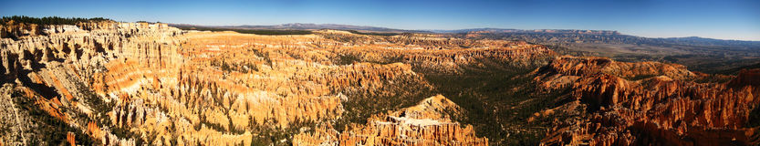 Bryce point ultra wide panorama. Ultra wide panorama of Bryce Canyon National Park from Bryce Point (Utah, USA stock photos