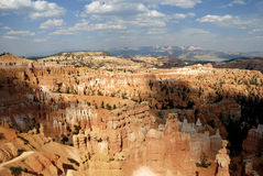 Bryce Scenic. Distant landscape image of sandstone spires (hoodoos) at Bryce Point, in Bryce Canyon National Park, Utah Stock Photos