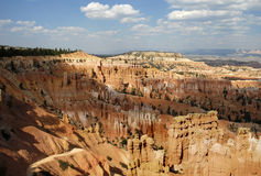 Bryce Scenic 2. Distant landscape image of sandstone spires (hoodoos) at Bryce Point, in Bryce Canyon National Park, Utah Stock Photo
