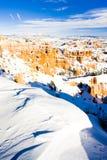 Bryce Schlucht-Nationalpark im Winter, Utah, USA stockbild