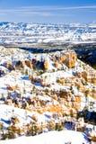 Bryce Schlucht-Nationalpark im Winter, Utah, USA stockbilder