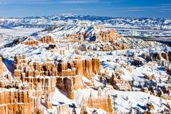 Bryce Schlucht-Nationalpark im Winter, Utah, USA lizenzfreie stockfotografie