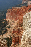 Bryce Textures. Vertical image of sandstone cliffs with different colors and textures in Bryce Canyon National Park, Utah Stock Photo