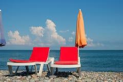 Bryczka hole na plaży zdjęcia royalty free