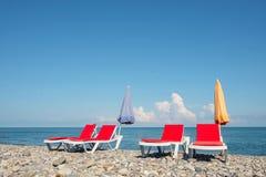 Bryczka hole na plaży obrazy royalty free