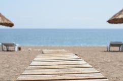 bryczka hole na plażowym oceanie Zdjęcia Royalty Free