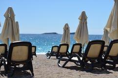 Bryczki longue plaża Obrazy Royalty Free