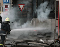 brygada ogień Fotografia Stock
