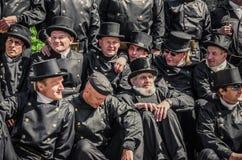 Brygady Tallinn komin przy świętowaniem dni Stary miasteczko Obrazy Stock