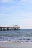 brygga för adelaide Australien strandgrange Arkivfoton