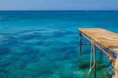 Brygga i havet Fotografering för Bildbyråer