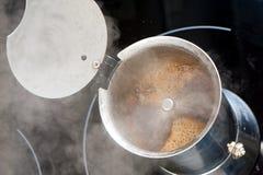 Brygga kaffe Arkivfoto