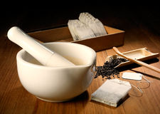 brygga kinesiska teautensils Royaltyfri Bild