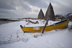 Brygga på Östersjön Arkivfoto