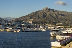 Brygga Puerto Banus, Marbella Arkivbild