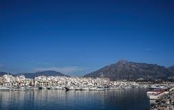 Brygga Puerto Banus, Marbella Royaltyfri Bild