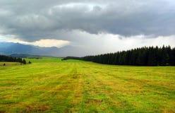brygga regnstorm Arkivfoto