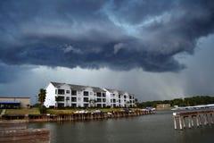 brygga storm Fotografering för Bildbyråer