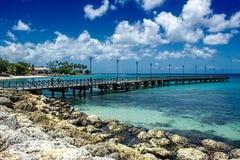 Brygga under reparationer i St Peter, Barbados Royaltyfri Fotografi