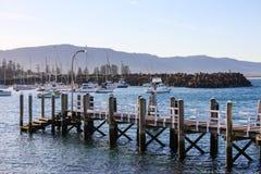 Brygga Wollongong hamn, Australien Royaltyfria Bilder