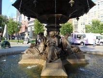 Bryggare Fountain, gemensamma Boston, Boston, Massachusetts, USA Arkivbild