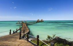 Bryggavardagsrumstång på Zanzibar Royaltyfria Bilder