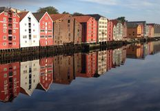 Brygge de Trondheim imagem de stock royalty free