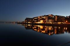 Brygge di Lysaker, Norvegia Fotografie Stock Libere da Diritti