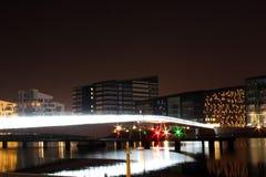 Bryggebroen, Nowożytny most w Kopenhaga Habour Zdjęcia Royalty Free