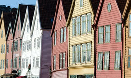 Bryggen in Bergen Royalty Free Stock Photography