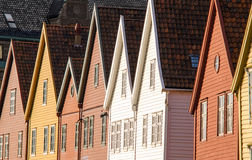 Bryggen in Bergen. The house front of Bryggen in Bergen, Norway Royalty Free Stock Photos