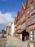 Bryggen Bergen Stock Afbeelding