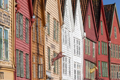 Bryggen, Bergen, Noruega Foto de archivo