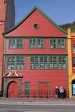 Bryggen, Bergen Norvegia Immagini Stock Libere da Diritti
