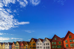 Bryggen, Bergen, Norvegia immagine stock libera da diritti