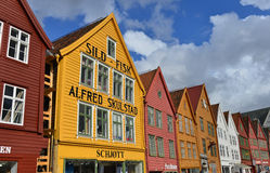 Bryggen in Bergen, Norway Stock Photography