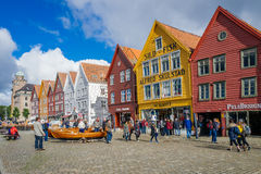 Bryggen in Bergen, Norway Stock Photo