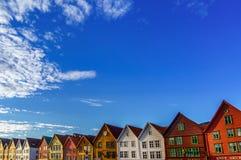 Bryggen, Bergen, Norwegen Lizenzfreies Stockbild