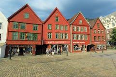 Bryggen in Bergen Royalty Free Stock Images