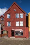 Bryggen 37 em Bergen Fotografia de Stock