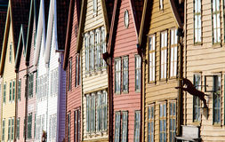 Bryggen en Bergen Imagen de archivo