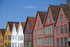 Bryggen, hanseatic league houses in Bergen - Norway. Bryggen, colorful hanseatic league houses of Bergen's landmark - Norway Royalty Free Stock Image