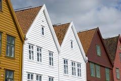 Bryggen, hanseatic league houses in Bergen - Norway Stock Image