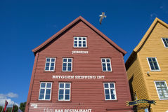 Bryggen, hanseatic league houses in Bergen - Norway Stock Photo