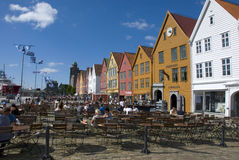 Bryggen, hanseatic league houses in Bergen - Norway Royalty Free Stock Image