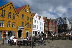 Bryggen, hanseatic league houses in Bergen - Norway Stock Image