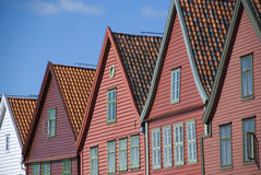 Bryggen, hanseatic liga domy w Bergen, Norwegia - Fotografia Stock