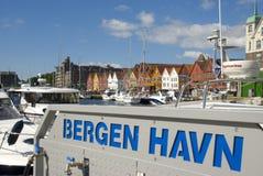 Bryggen, hanseatic ligahuizen in Bergen - Noorwegen Royalty-vrije Stock Foto