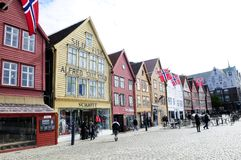 Bryggen Historical Buildings @ Bergen, Norway Stock Photos